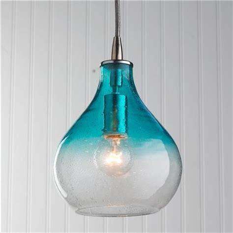 aqua glass pendant light ombre colors and glass vase on pinterest