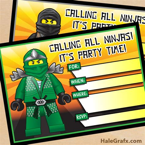printable ninjago invitations free free printable lego ninjago birthday invitation set