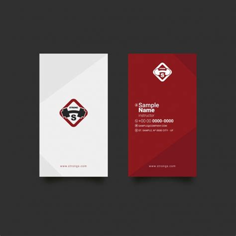 Fitness Business Card Template by 22 Business Cards Free Premium Psd Ai Format