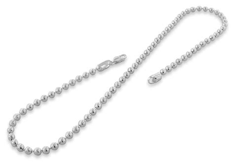 sterling silver 18 quot bead chain necklace 4 0mm