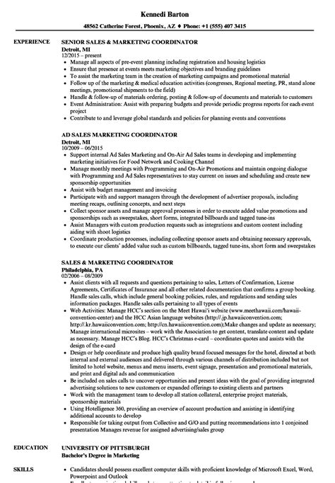 marketing coordinator resume sample logistic coordinator resume