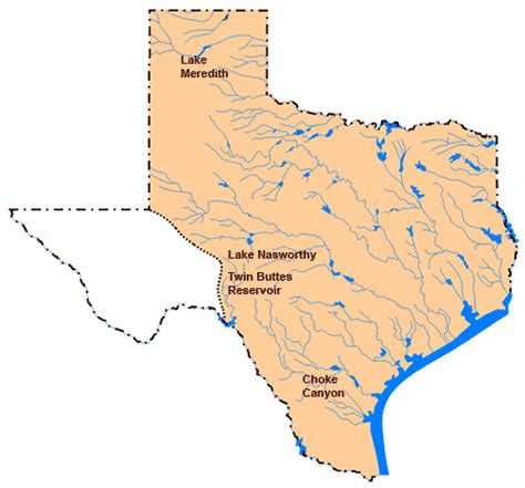 lake map of texas texas lakes and reservoirs