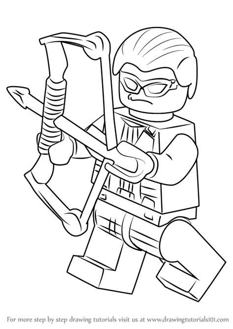 Lego Hawkeye Coloring Page | learn how to draw lego hawkeye lego step by step