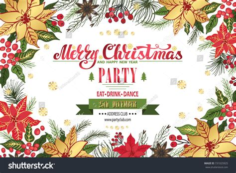 layout for christmas party christmas party invitationdesign templateflyerticket