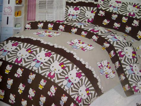 Sprei Katun Lokal Uk 160x200x25 41 detail produk motif hello hitam putih hk harajuku sprei jogja