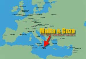 malta on the world map map travel