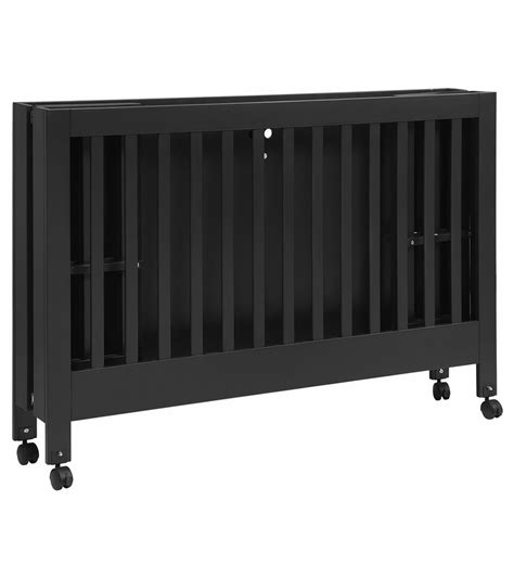 Portable Crib Dimensions by Babyletto Maki Size Folding Portable Crib Black