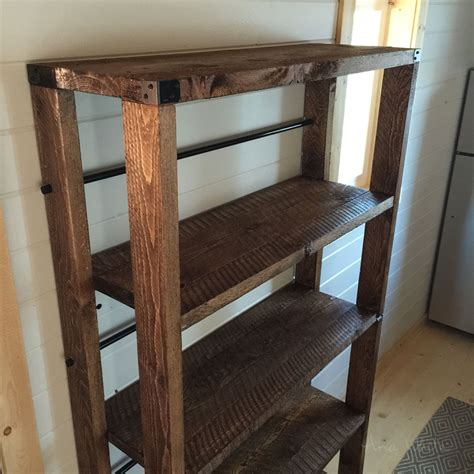 white reclaimed wood rolling shelf diy projects