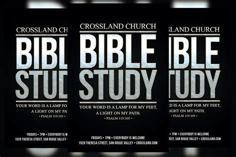 bible study church flyer flyer templates on creative market