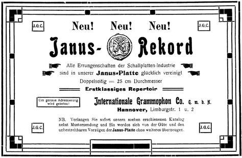 janus design label janus record