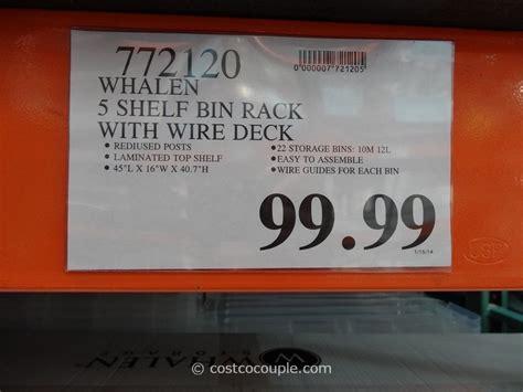 Whalen Bin Rack by Whalen 5 Tier Bin Rack