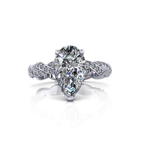 infinity engagement ring infinity pear shape engagement ring jewelry designs