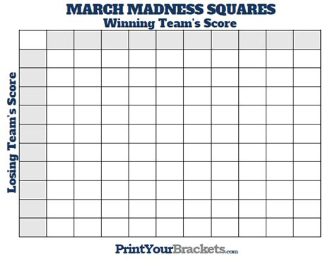 Office Football Pool March Madness March Madness Quot Squares Quot Blocks