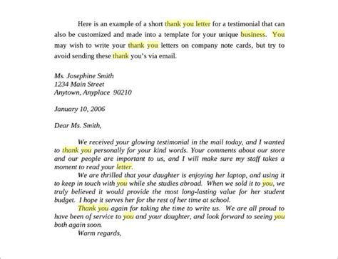 Thank You Letter Of Appreciation Business Business Thank You Letter 10 Free Sle Exle