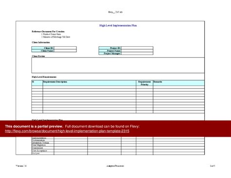 Itil Implementation Plan Template by Contemporary Itil Implementation Plan Template Pattern