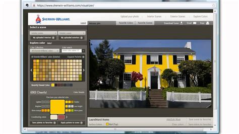 how to use the sherwin williams color tool to house