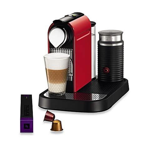 nespresso bed bath and beyond buy nespresso 174 citiz milk espresso maker with aeroccino
