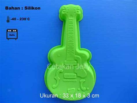 Cetakan Kue Puding Big Aster Berkualitas cetakan silikon puding kue big guitar cetakan jelly