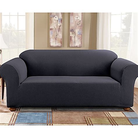1 piece sofa slipcover buy sure fit 174 simple stretch subway tile 1 piece sofa