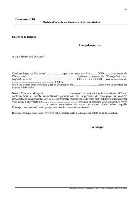Lettre De Garantie Bancaire Pour Visa modele lettre levee de retenue de garantie document