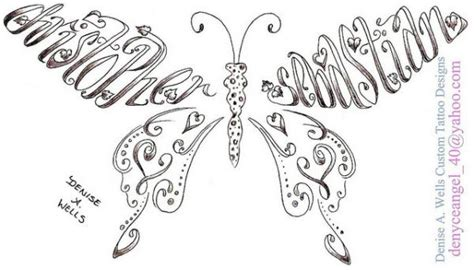 butterfly tattoo made out of names the gallery for gt faith hope love heart tattoos