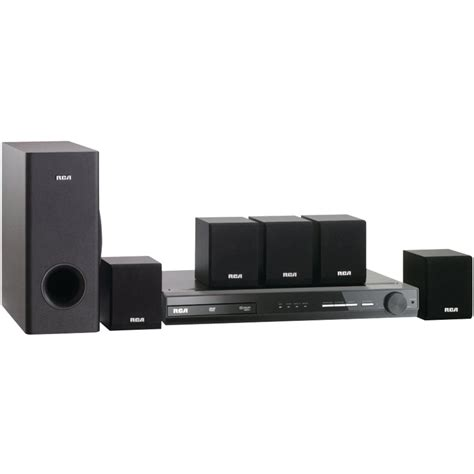 rca rtdh home theater system  built  dvd player