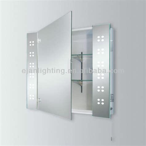 led bathroom cabinet with shaver socket led illuminated bathroom mirror cabinet with shaver socket