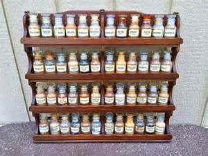 Large Wooden Spice Rack Rare Vintage John Wagner And Sons Large Wooden Spice Rack With