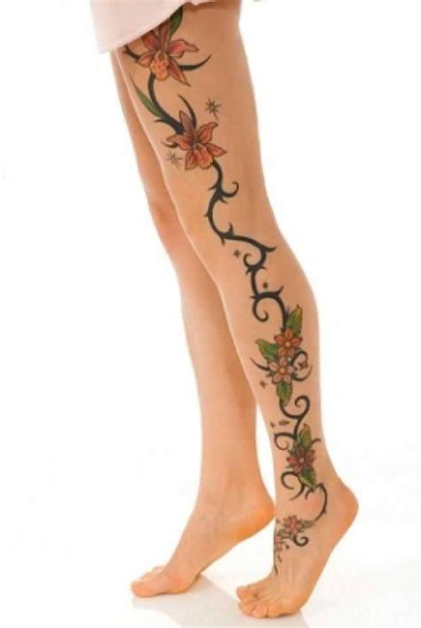 leg piece tattoo leg ideas