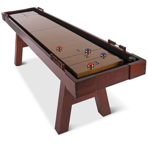 9 ft shuffleboard table the 9 foot wooden shuffleboard table hammacher schlemmer