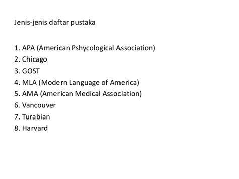 penulisan daftar pustaka turabian daftar pustaka