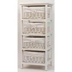 meuble avec panier en osier mobilier sur enperdresonlapin