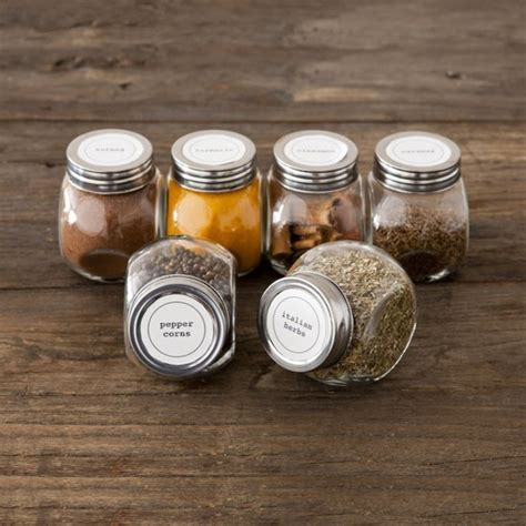 Camp Kitchen Designs Spice Jar Labels 12 99 Perch Home