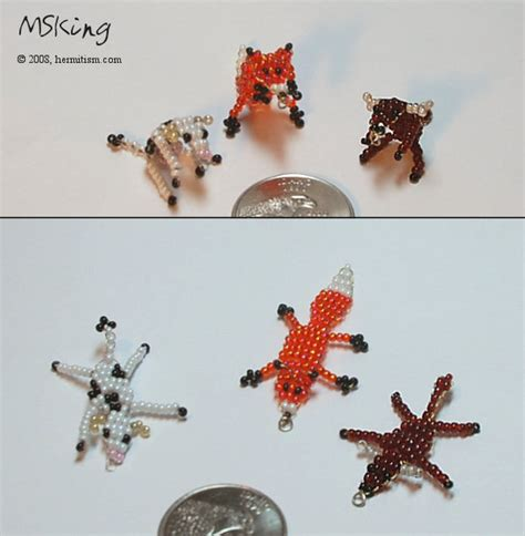 beaded animal patterns 2d bead animals 3 by hermitworm i ve got to make the fox