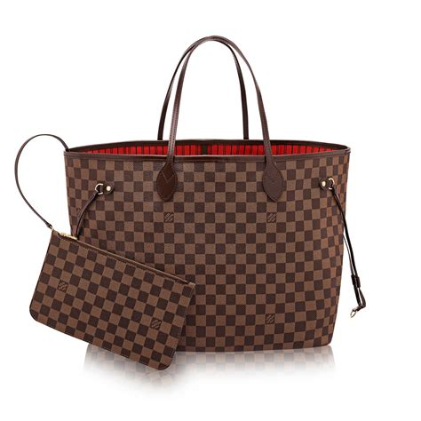 Jual Tas Lv Louis Vuitton Mm Damier Ebene Mirror Quality 1 1 Origina 3 neverfull gm damier ebene canvas handbags louis vuitton