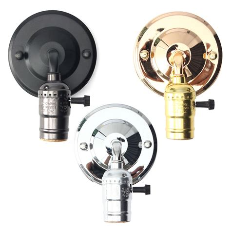 Light Fixture Switch E27 Antique Vintage Switch Type Wall Light Sconce L Bulb Socket Holder Fixture Alex Nld