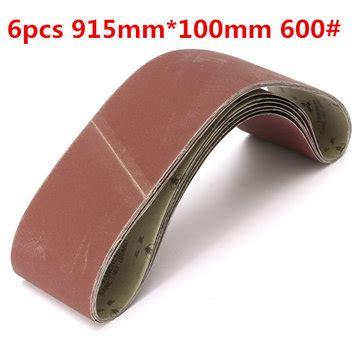 6pcs 915mm 100mm Alumina Sanding Belts 600 Grit Sandpaper