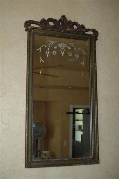 14 X 20 Mirror by Antique Nurre Carved Wood Framed Beveled Wall Mirror 14 Quot X