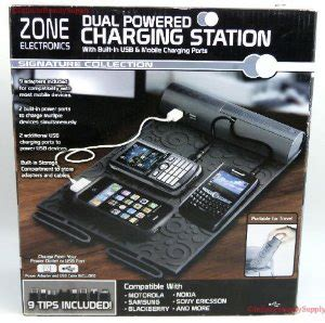 zone electronics dual powered mobile usb charging station