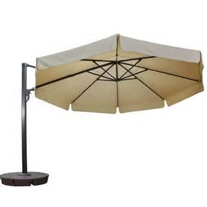 13 Ft Patio Umbrella Island Umbrella 13 Ft Octagonal Cantilever With Valance Patio Umbrella In Beige