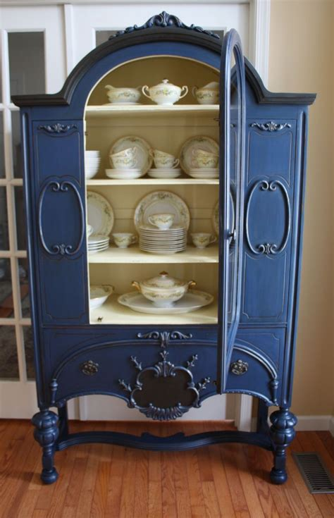 painted cabinet hometalk painted vintage china cabinet