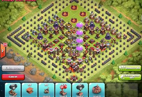 Coc Christmas Layout | new clash of clans christmas tree base layout product