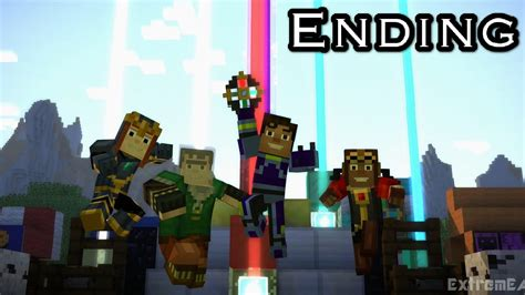 A Place Ending Minecraft Story Mode Episode 4 A Block And A Place Gameplay Walkthrough Ending