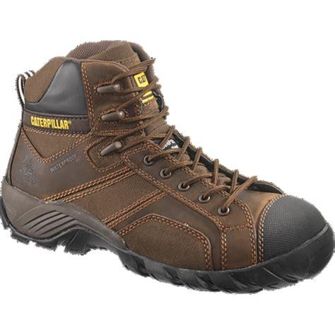 Sepatu Boots Caterpillar Bishop Steel Toe Brown Safety Ujung Besi caterpillar argon hi wp ct mens brown mens free