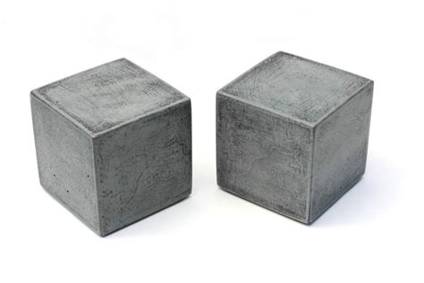 beton cube sale modern square concrete bookends set of 2 heavy