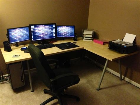 L Desks For Gaming Fresh Best Gaming Desk From Ikea 12960