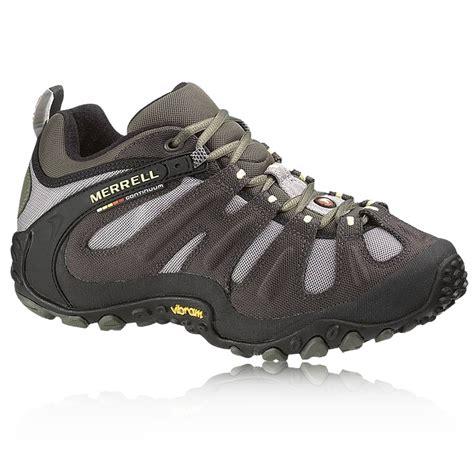 merrell mens walking shoes merrell mens chameleon wrap slam black outdoor trail
