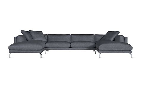 double chaise sofa sectional como double chaise sectional design within reach
