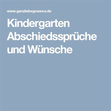 Abschiedstext Kindergarten