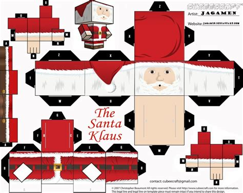 santa paper craft the santa klaus cubeecraft by jagamen on deviantart